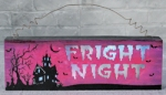 Fright Night Light Up Halloween Sign