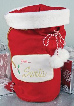 Plush Santa Gift Bag